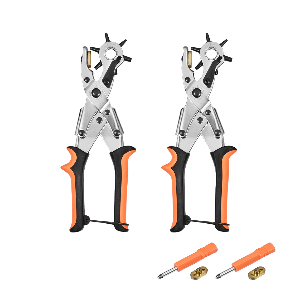 Punch Pliers 250mm Leather Round Hole Punch Tool with 6 Size for DIY Craft 2 Pcs