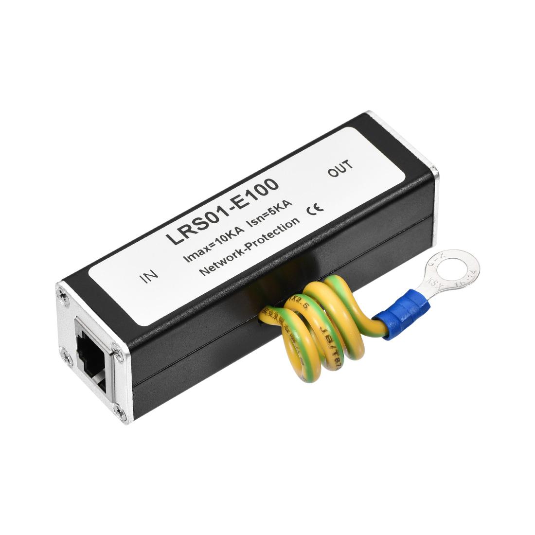 Ethernet Surge Protector for 10/100M Base-T Gigabit Modem Protection 85x25x25mm