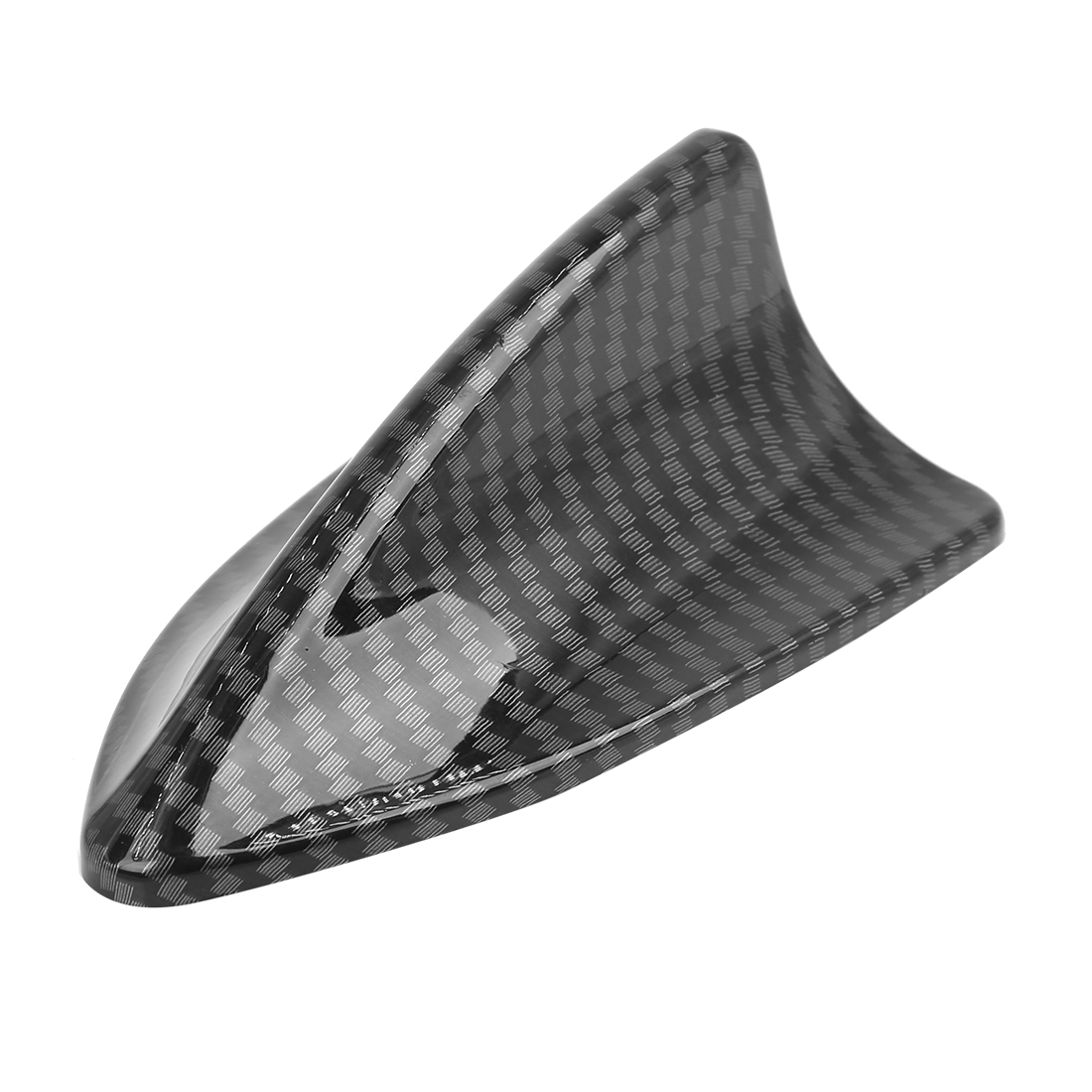 Auto Car Decoration Antenna Shark Fin Shaped Carbon Fiber Pattern 6cm Height