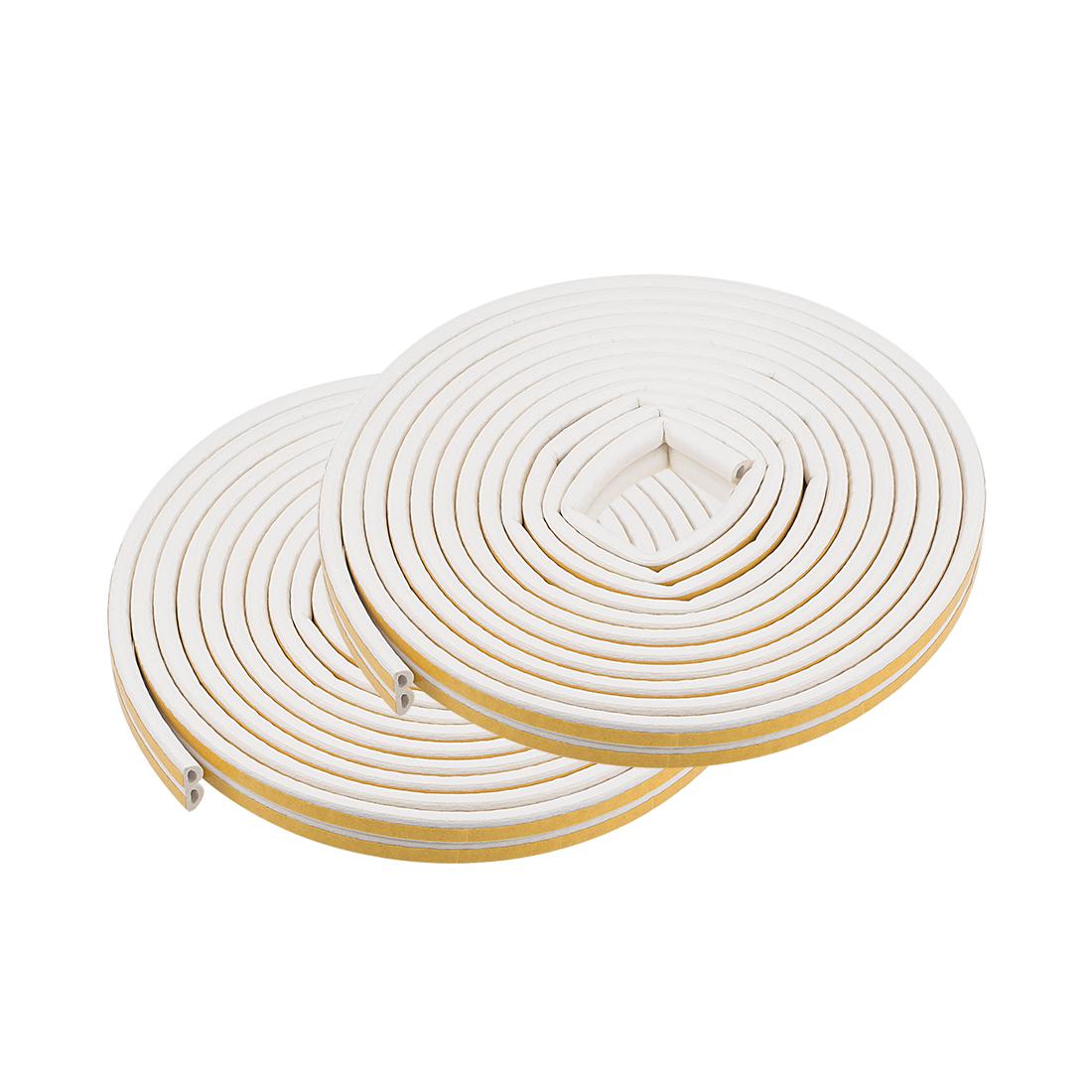 Foam Tape Self-Adhesive 9mm Width 6mm Thick, Total 65.6 Feet White 4Pcs
