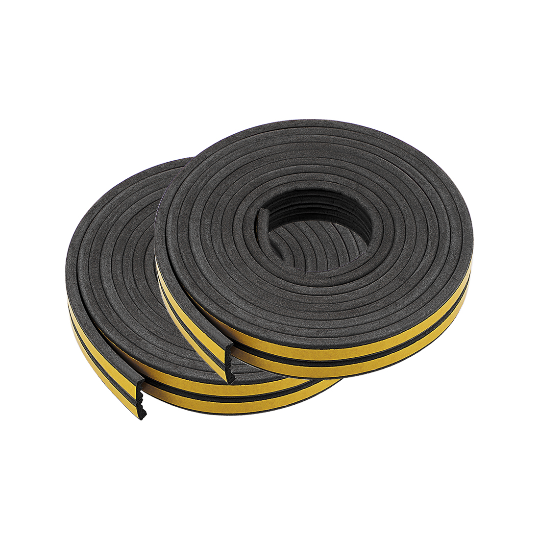 Foam Tape Adhesive 9mm Width 4mm Thick, Total 32.8 Feet Long Black 4Pcs