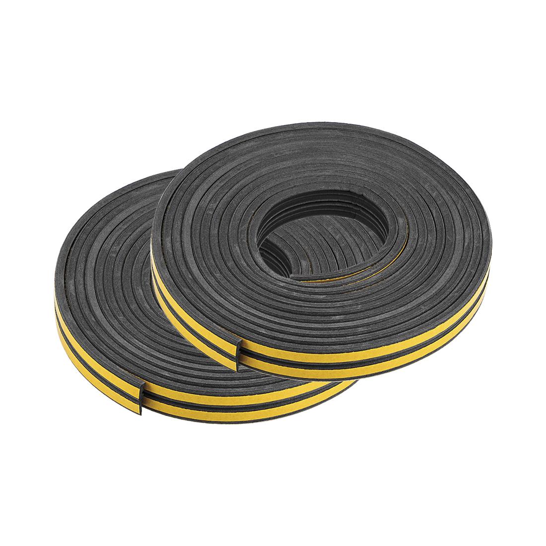 Foam Tape Adhesive 9mm Width 4mm Thick, Total 52 Feet Long Black 4Pcs