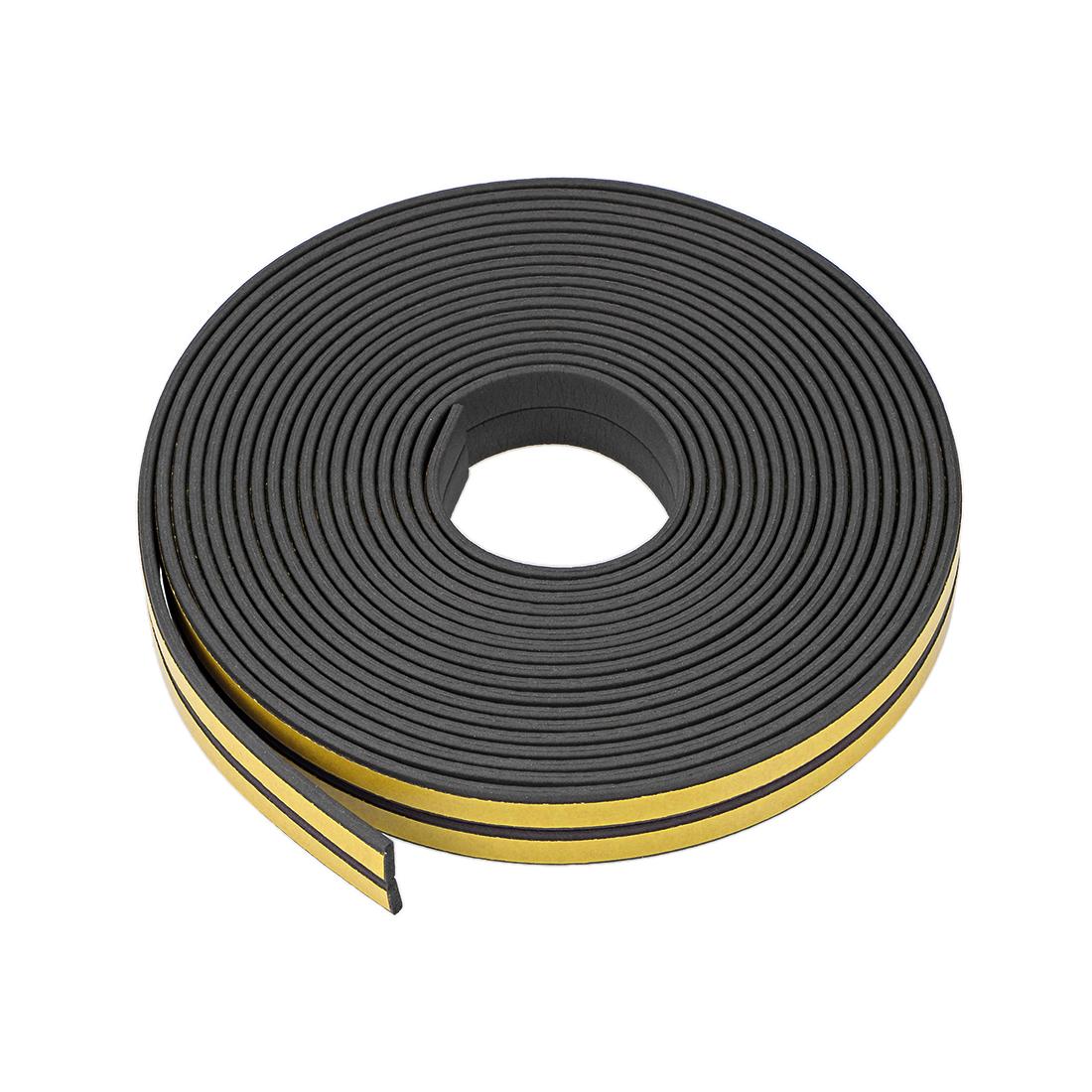 Foam Tape Adhesive 9mm Wide 2mm Thick, Total 32.8 Feet Black 2Pcs