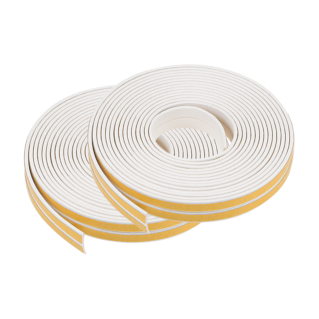 Foam Tape Adhesive 9mm Wide 2mm Thick, Total 52 Feet White 4Pcs