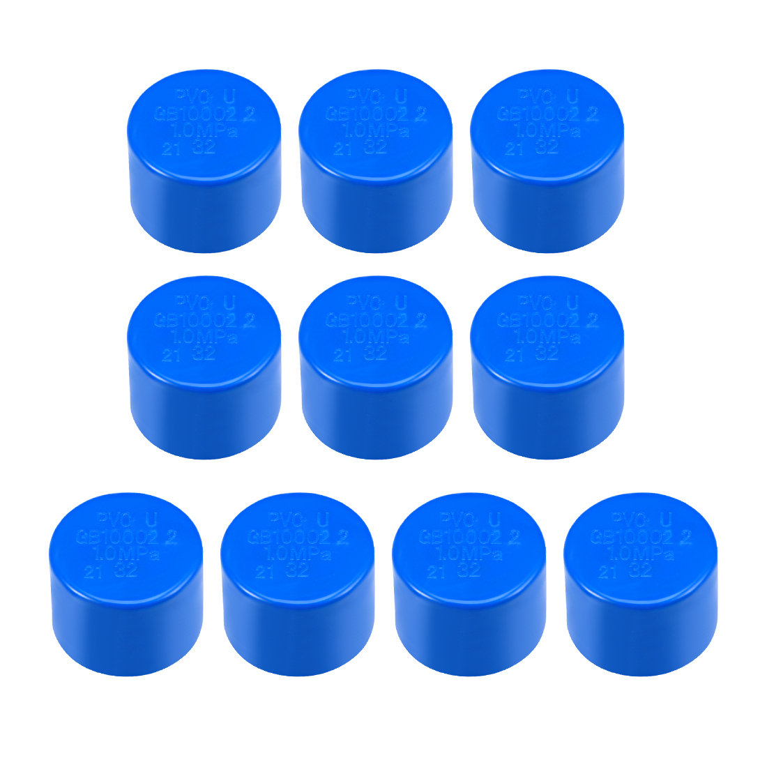 32mm PVC Pipe Cap Fitting, Slip End Caps DWV(Drain Waste Vent) Blue 10Pcs