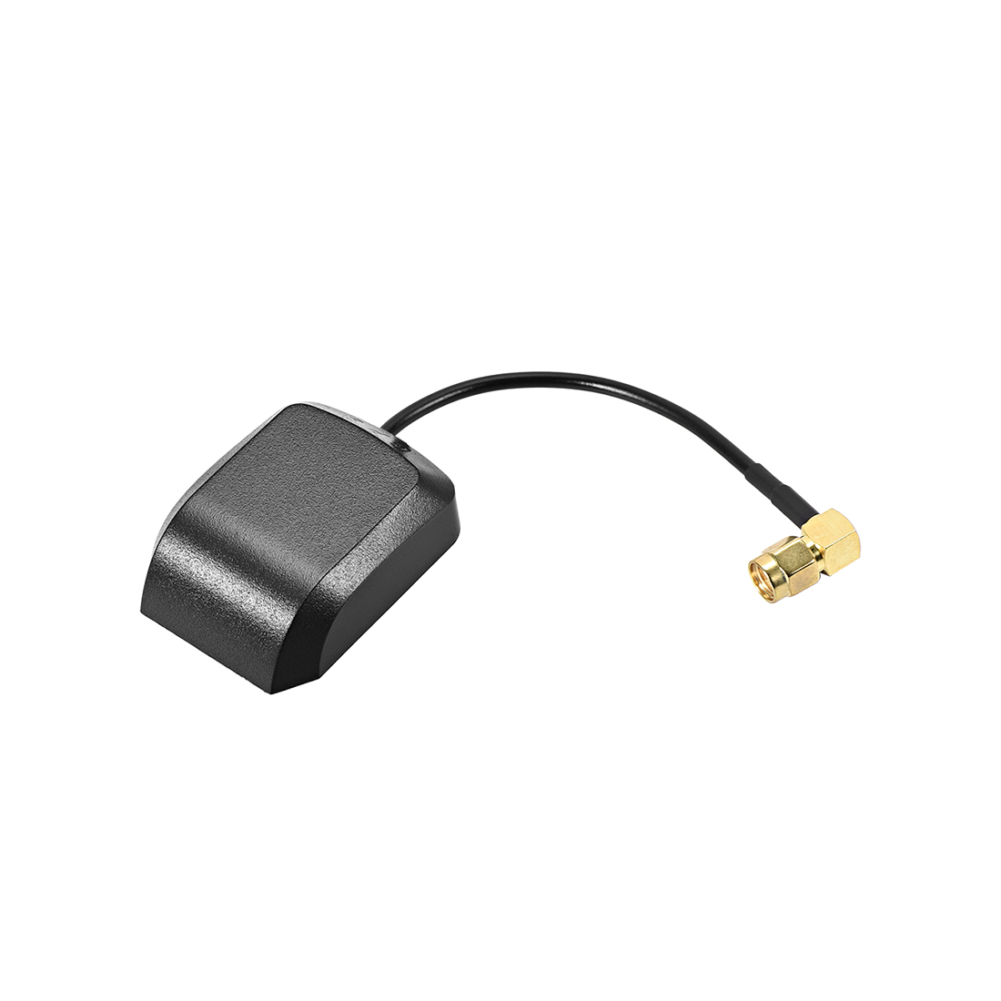 GPS Active Antenna 90-Degree SMA Male Plug 27dB Aerial Connector 0.05 Meter