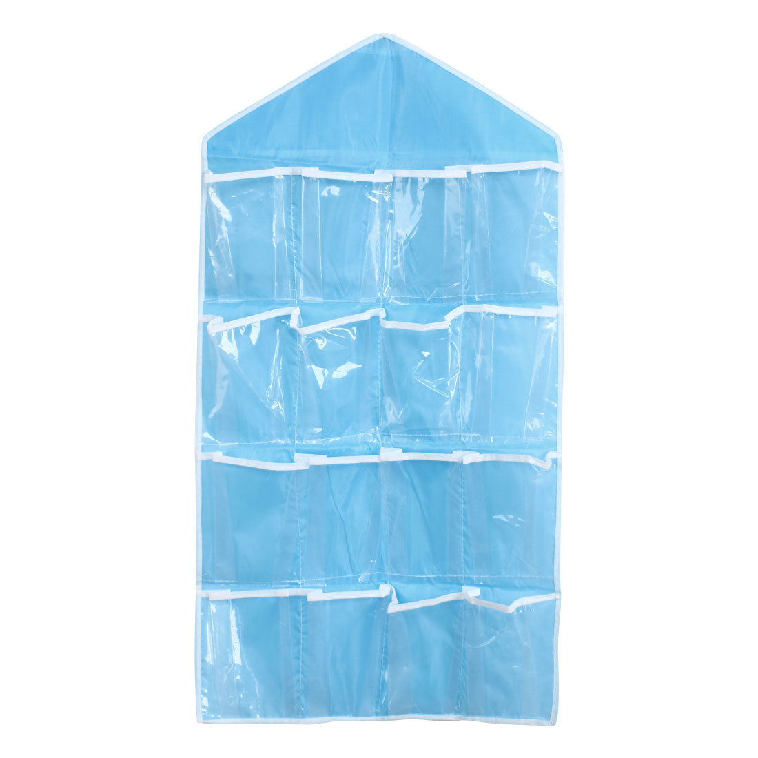 Wall Door Closet Multilayer Hanging Storage Bag Case Organizer Pouch Blue