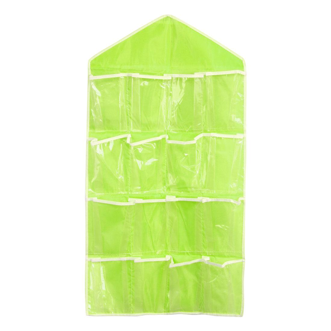 Wall Door Closet Multilayer Hanging Storage Bag Case Organizer Pouch Green