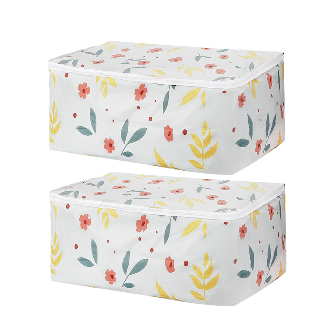 23.6 x 15.7 x 10 Inch Quilt Storage Bag Cloths Container for Closet Bedroom 2pcs