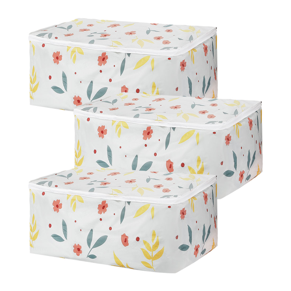 23.6 x 15.7 x 10 Inch Quilt Storage Bag Cloths Container for Closet Bedroom 3pcs