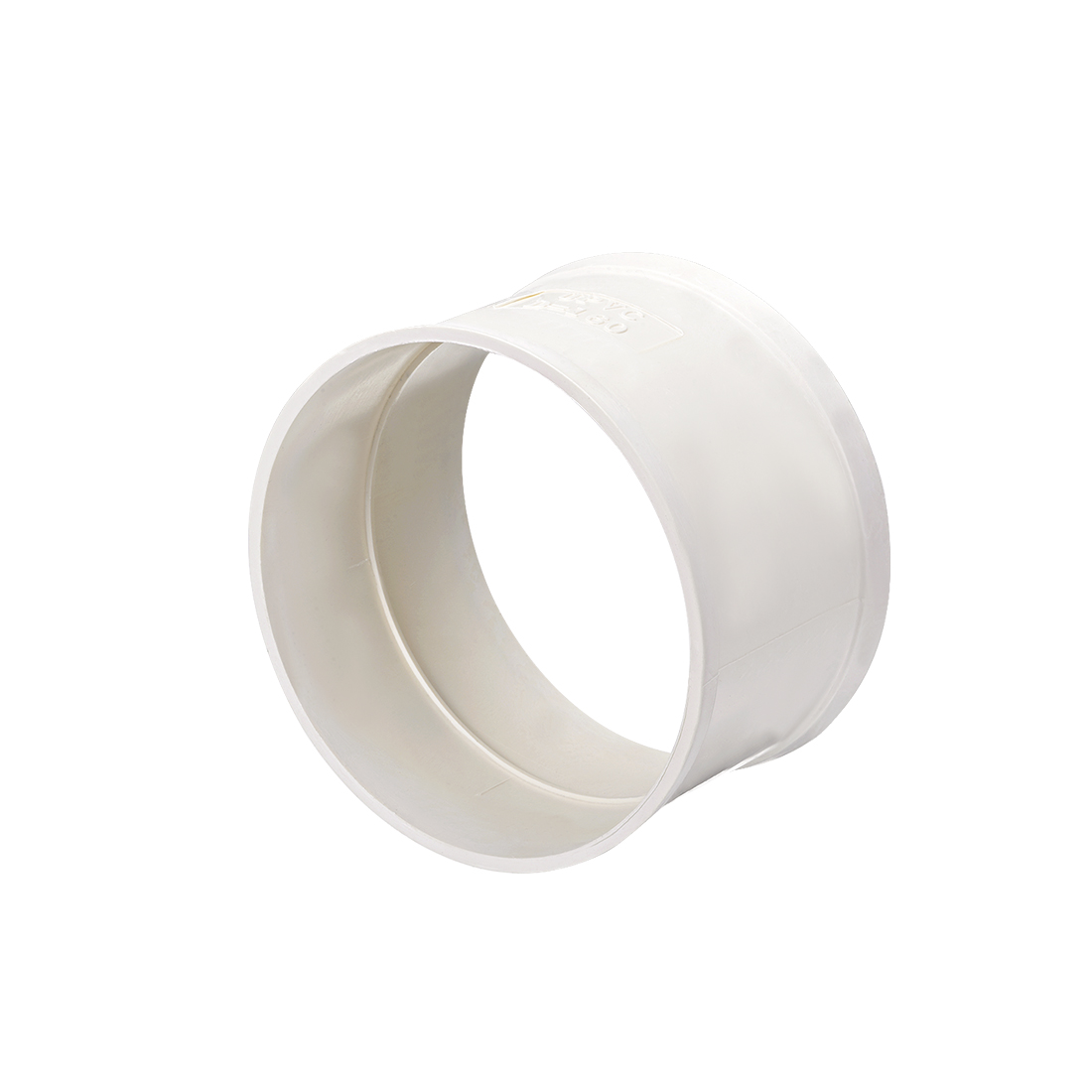 PVC Pipe Fitting Coupling Schedule 40 White 6-inch Socket
