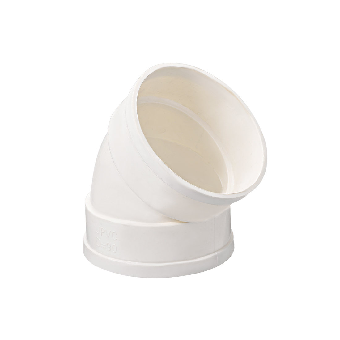 PVC Pipe Fitting 45 Degree Elbow Schedule 40 White 3-Inch Socket