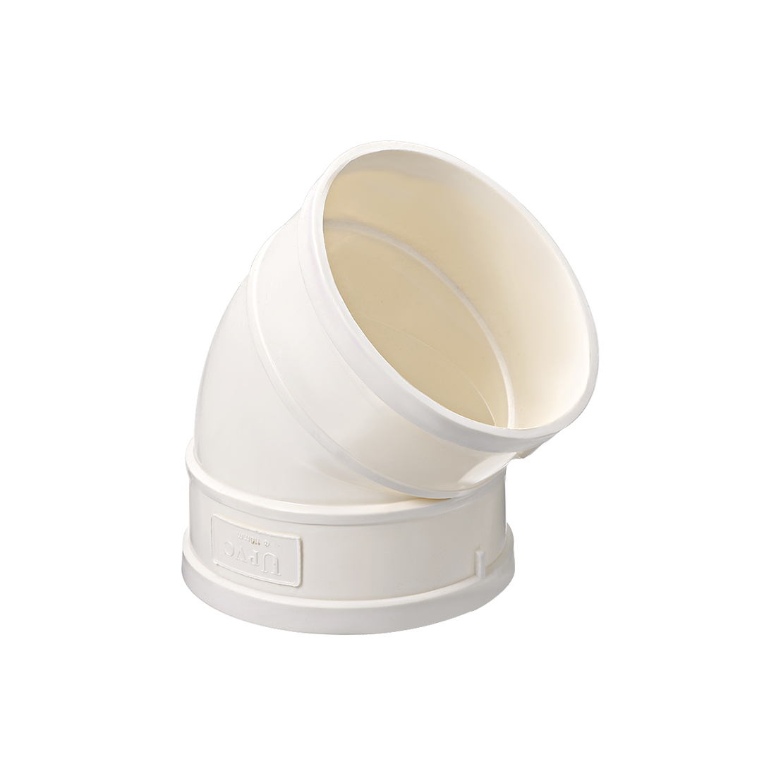 PVC Pipe Fitting 45 Degree Elbow Schedule 40 White 4-Inch Socket