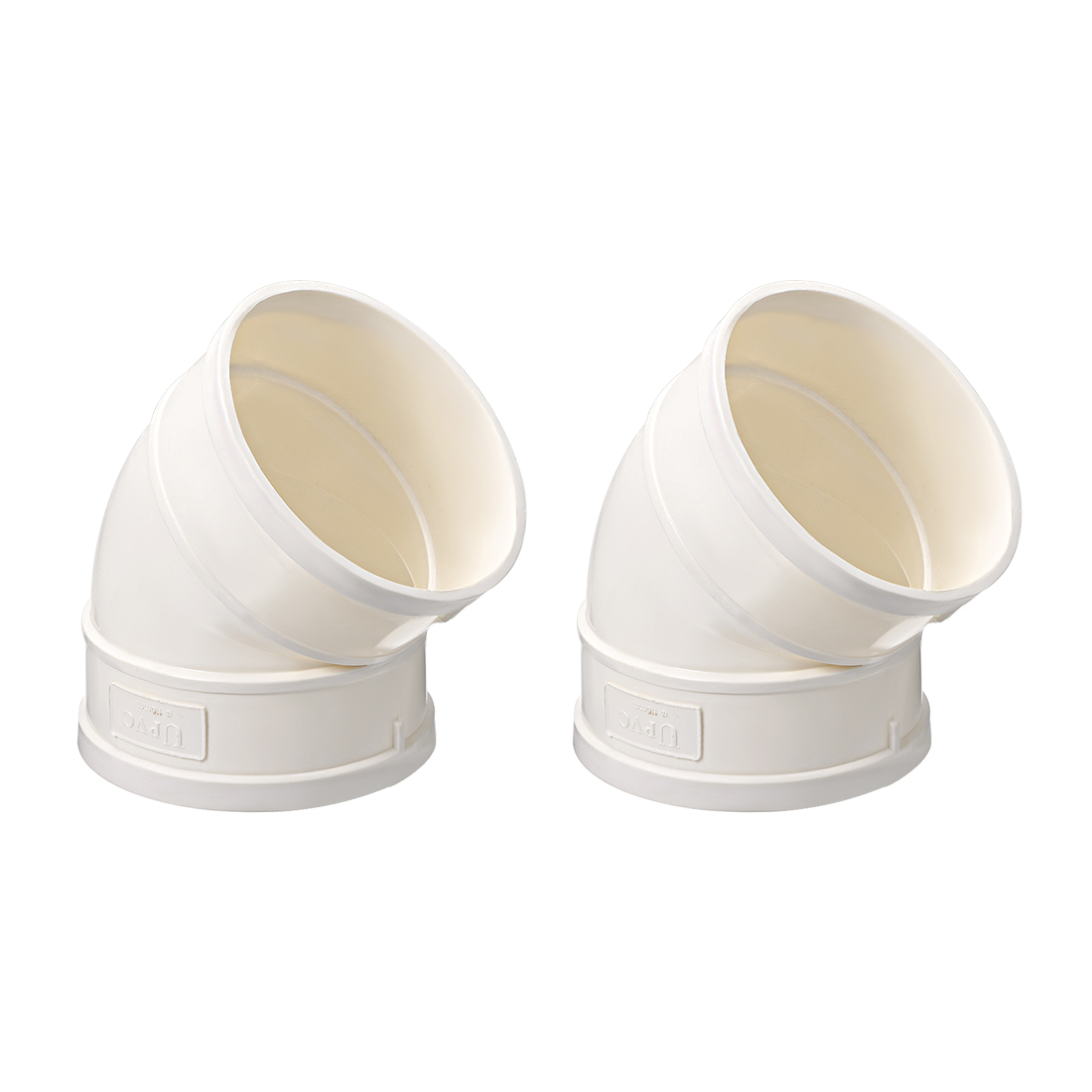PVC Pipe Fitting 45 Degree Elbow Schedule 40 White 4-Inch Socket 2pcs