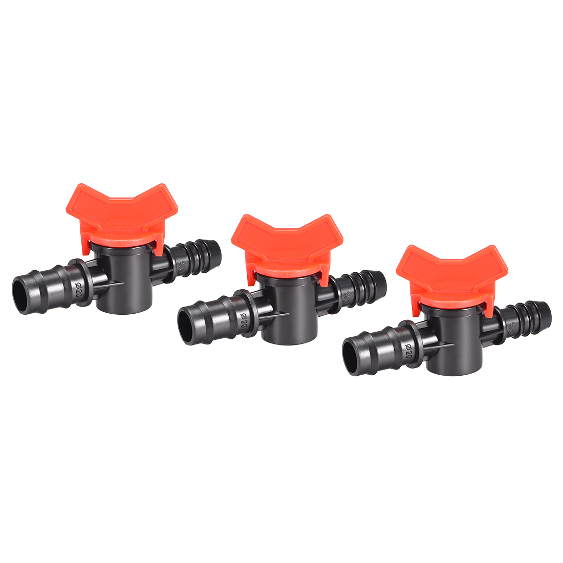 """Drip Irrigation Barbed Valve for 1/2"""" x 5/8"""" Double Male Barbed Valve 3pcs"""