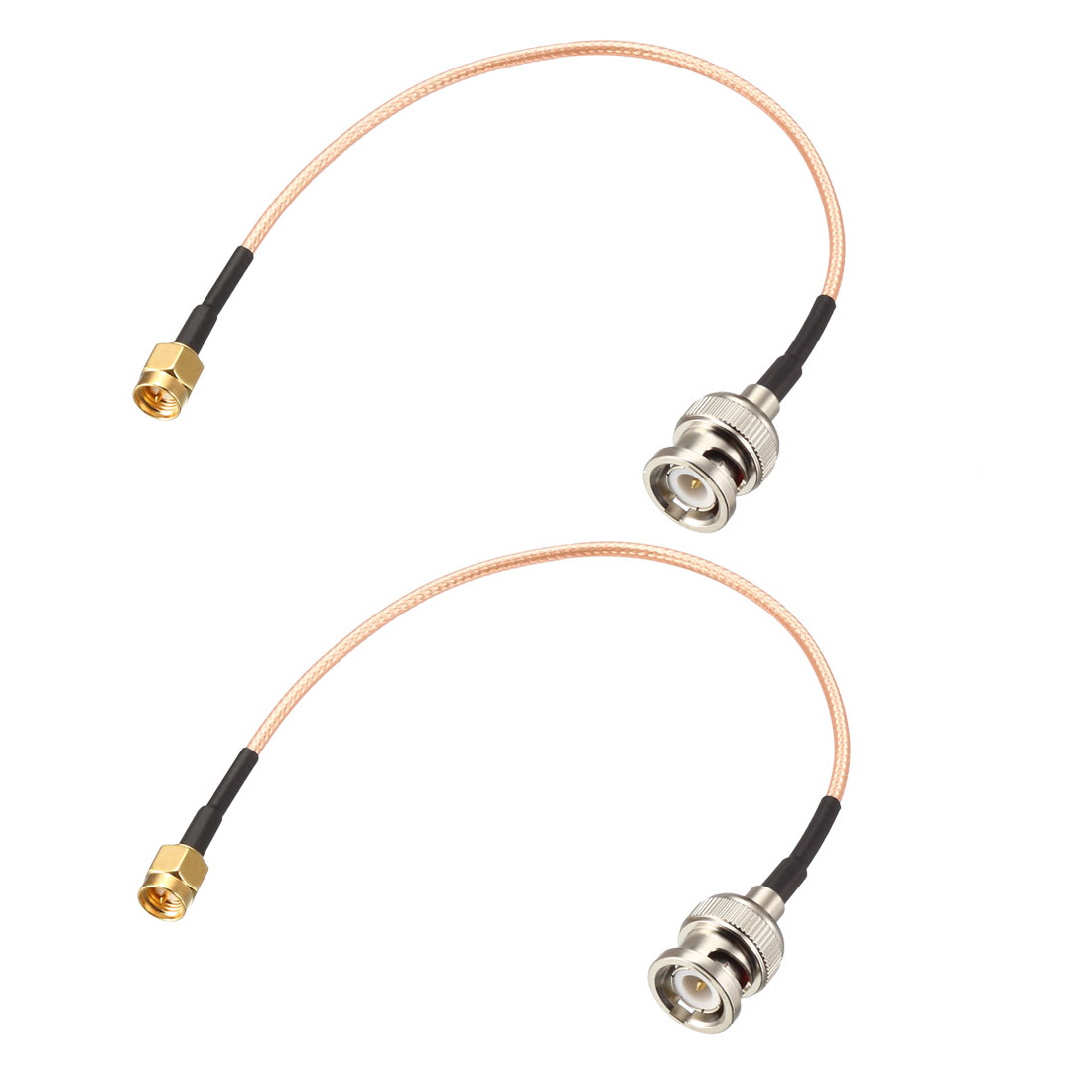 RG316 Coaxial Cable with BNC Male to SMA Male Connectors 50 Ohm 1 Feet 2pcs