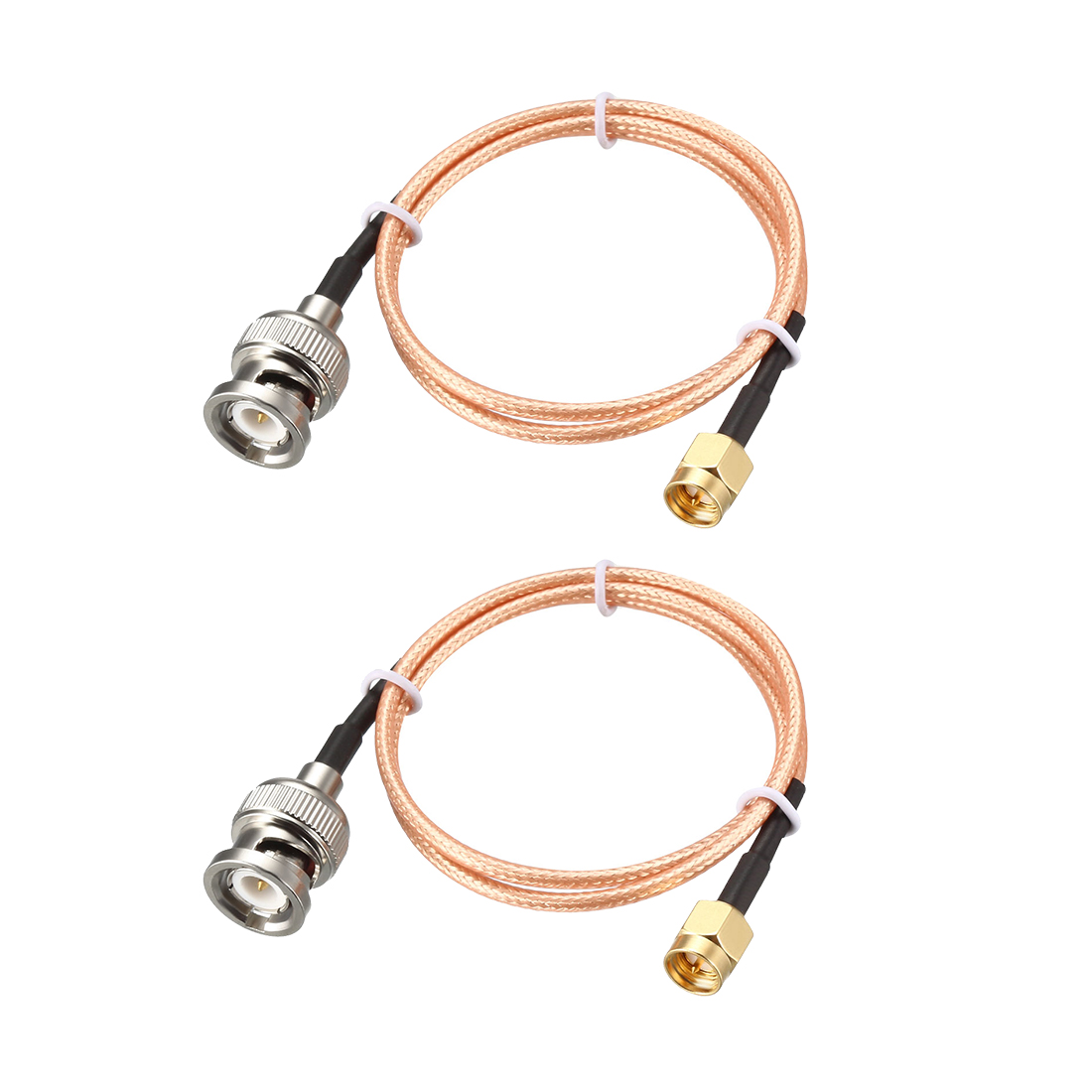 RG316 Coaxial Cable with BNC Male to SMA Male Connectors 50 Ohm 1.5 Feet 2pcs