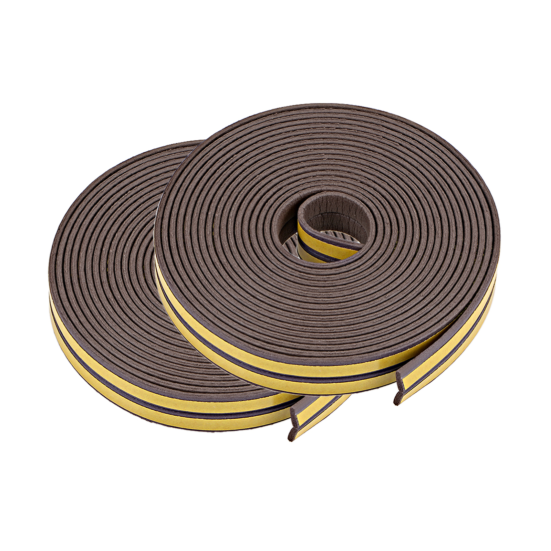 Foam Tape Adhesive 9mm Wide 2mm Thick, Total 52 Feet Brown 4Pcs