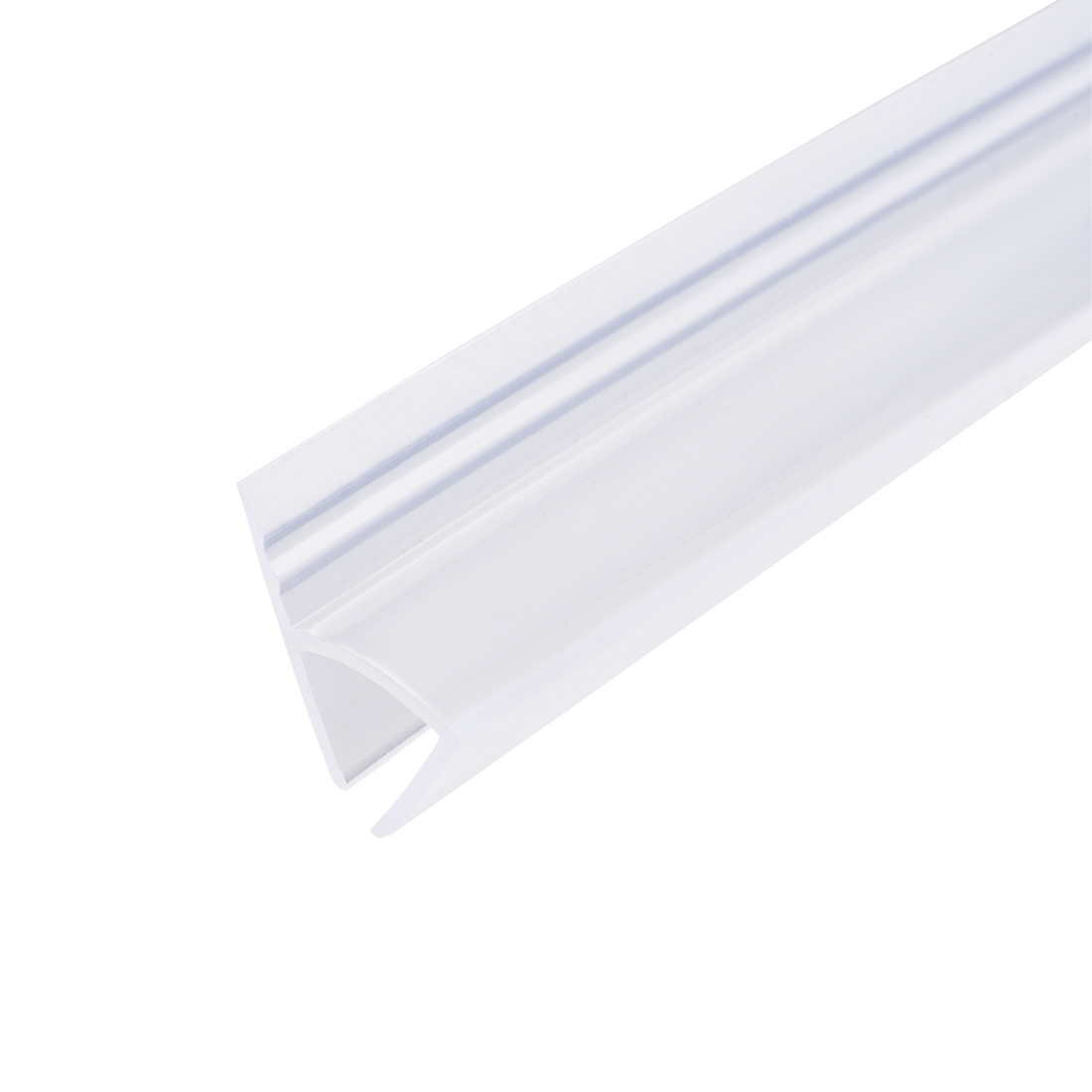 "Frameless Glass Shower Door Sweep Seal h-Type 10mm Drip Rail 3/8""(10mm) x 118"""