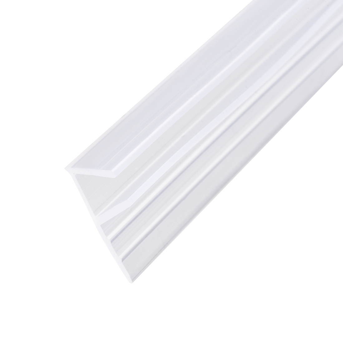 "Frameless Glass Shower Door Sweep Seal F-Type 12mm Drip Rail 3/8""(10mm) x 78.74"""