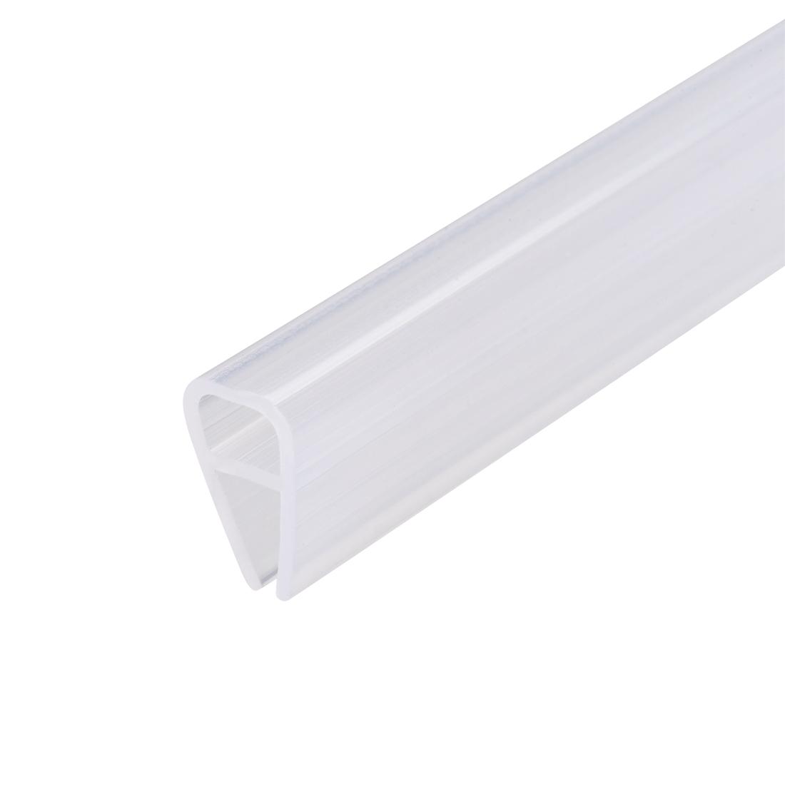 """Frameless Glass Shower Door Sweep Seal U-Type 8mm Drip Rail 1/4""""(6mm) x 39.37"""""""