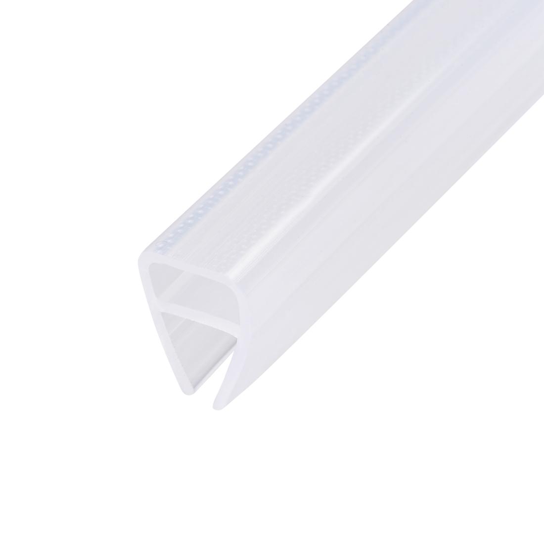 """Frameless Glass Shower Door Sweep Seal U-Type 8mm Drip Rail 1/2""""(12mm) x 78.74"""""""