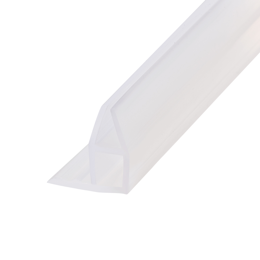 """Frameless Glass Shower Door Sweep Corner Seal 11mm Drip Rail 1/4""""(6mm) x 39.37"""""""