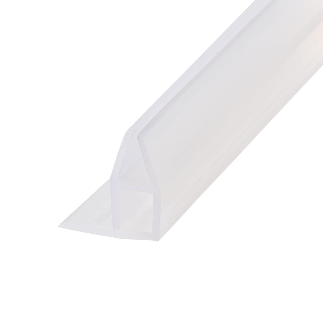 """Frameless Glass Shower Door Sweep Corner Seal 10mm Drip Rail 5/16""""(8mm) x 118"""""""