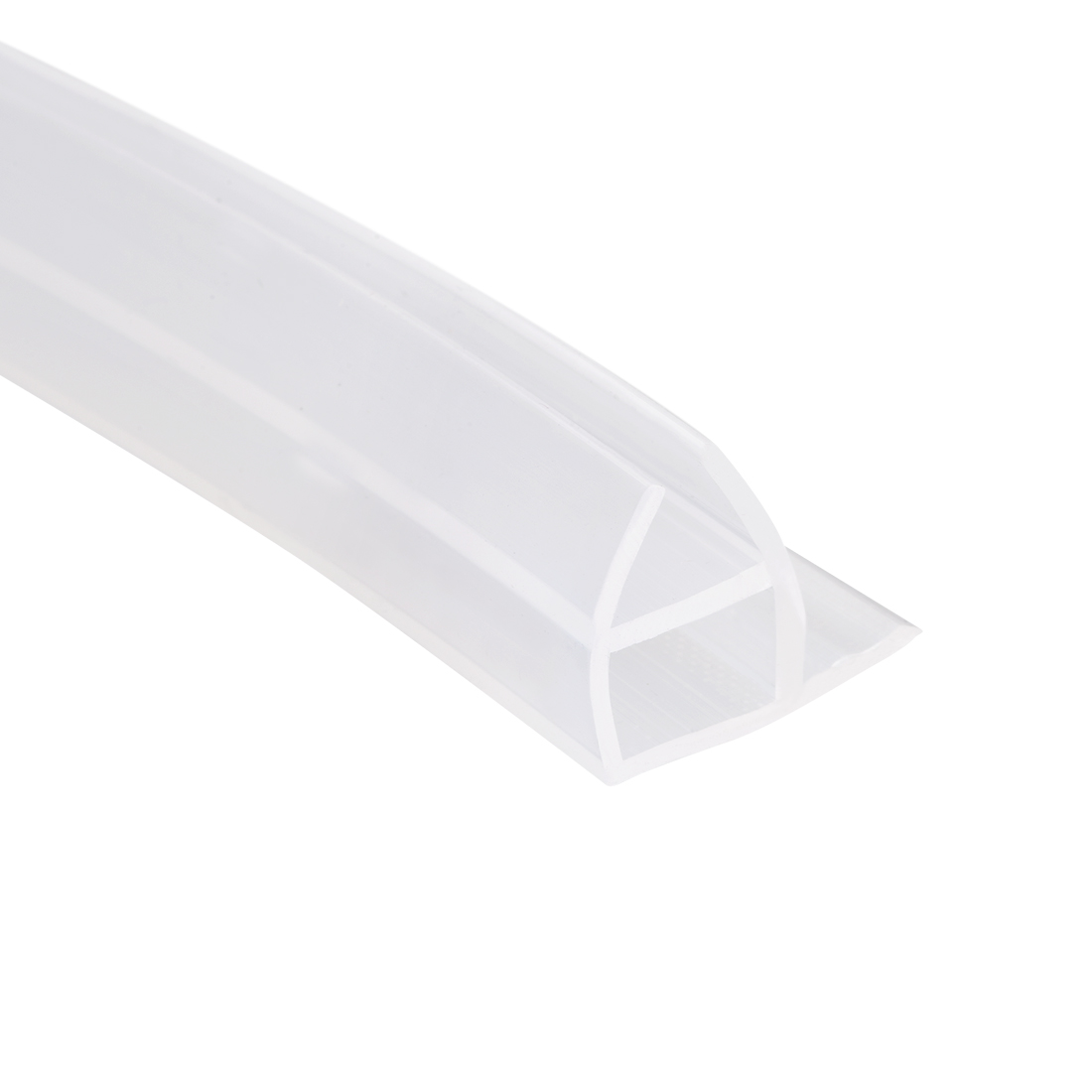 "Frameless Glass Shower Door Sweep Corner Seal 10mm Drip Rail 1/2""(12mm) x 78.74"""
