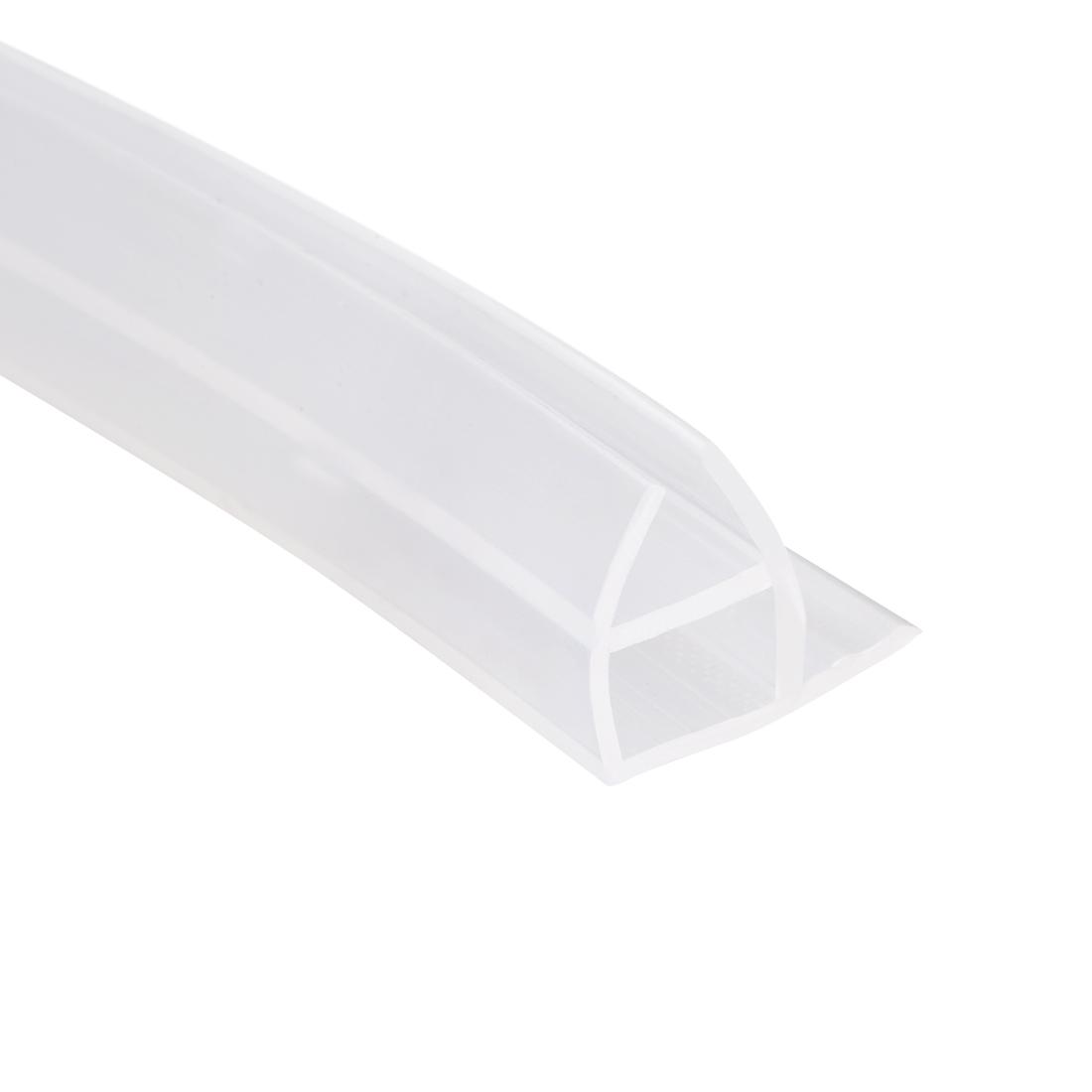 """Frameless Glass Shower Door Sweep Corner Seal 10mm Drip Rail 1/2""""(12mm) x 118"""""""