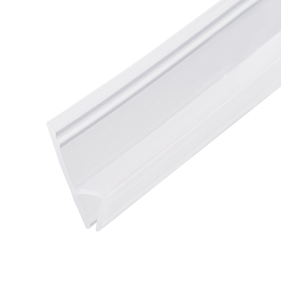 """Frameless Glass Shower Door Sweep Seal h-Type 20mm Drip Rail 5/16""""(8mm) x 78.74"""""""