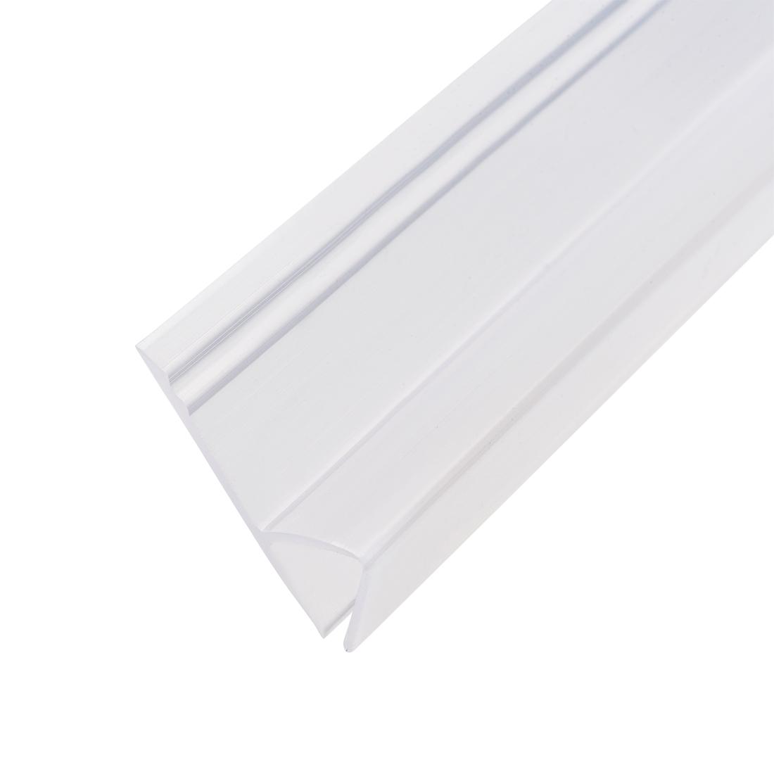 """Frameless Glass Shower Door Sweep Seal h-Type 20mm Drip Rail 3/8""""(10mm) x 118"""""""