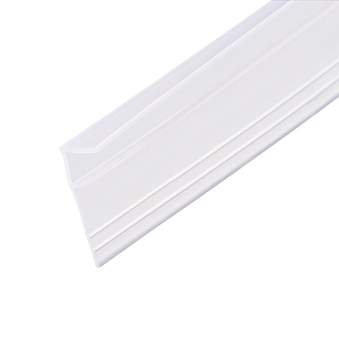 """Frameless Glass Shower Door Sweep Seal F-Type 20mm Drip Rail 5/16""""(8mm) x 118"""""""