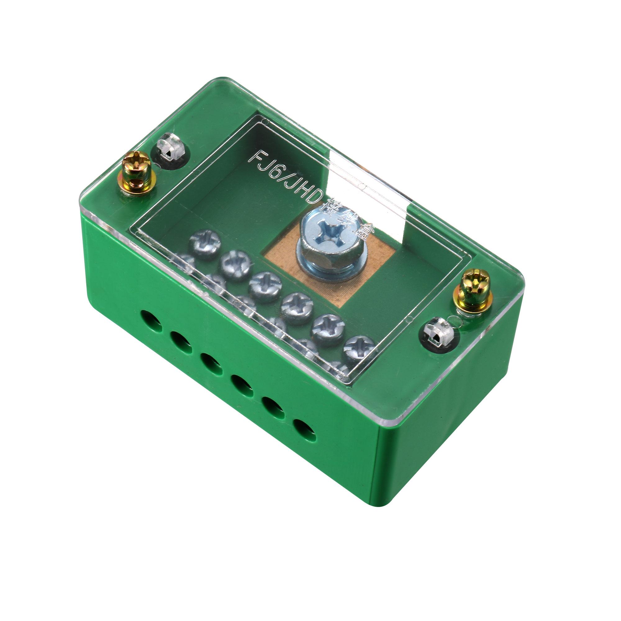 1 Inlet 6 Outlet Terminal Strip Blocks Single Phase Distribution Block