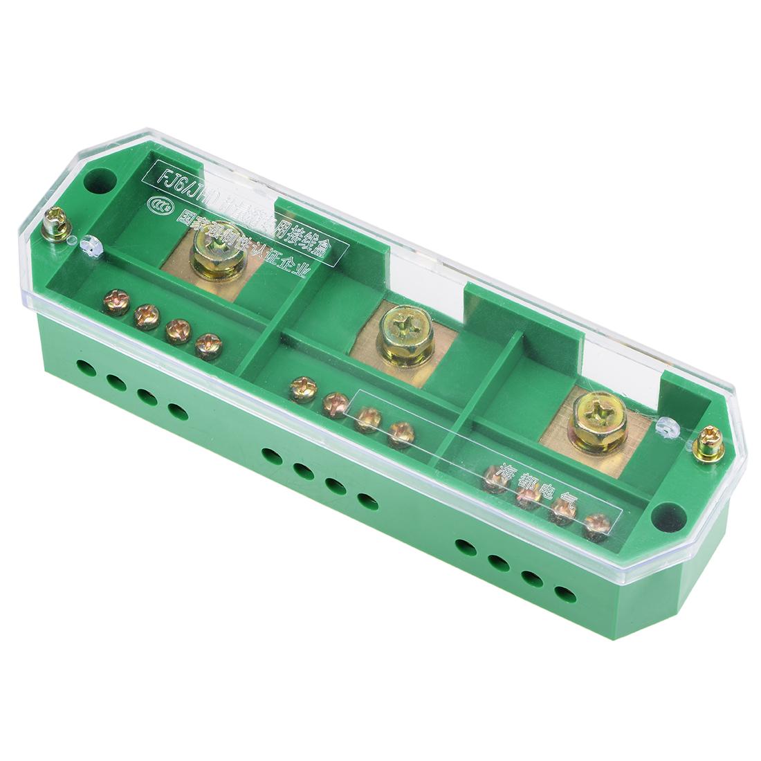 3 Inlet 12 Outlet Terminal Strip Blocks Single Phase Distribution Block