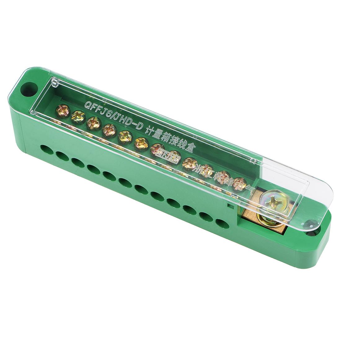 1 Inlet x 12 Outlet Terminal Strip Blocks Single Phase Distribution Block 1PCS