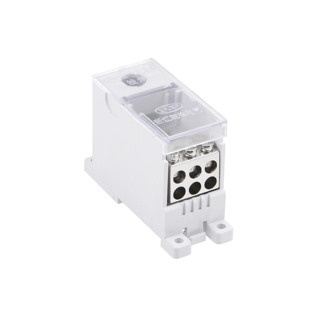 1 Input 6 Output DIN Rail Terminal Blocks Connectors Distribution Block