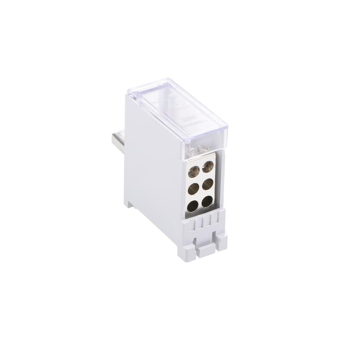 1 Inlet 6 Outlet Terminal Blocks DIN Rail Distribution Block for Circuit Breaker