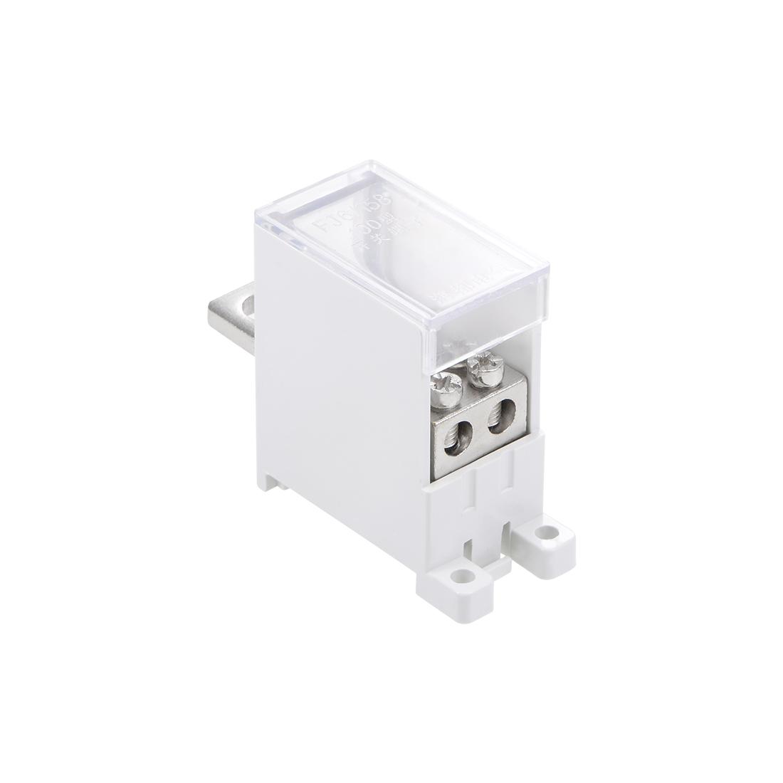 1 Inlet 2 Outlet DIN Rail Terminal Blocks 125A Max Input Distribution Block