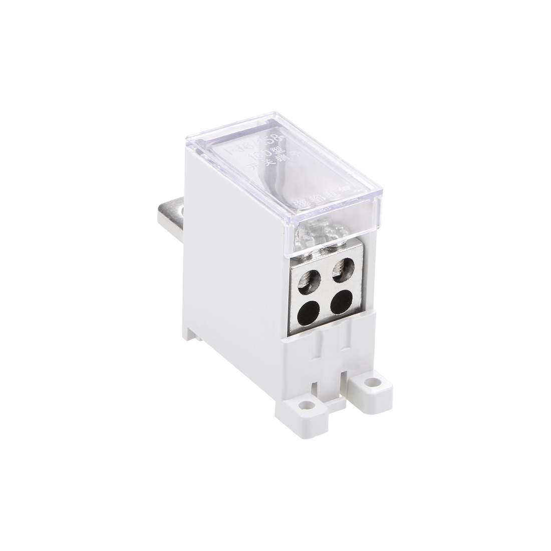 1 Inlet 4 Outlet DIN Rail Terminal Blocks 125A Max Input Distribution Block