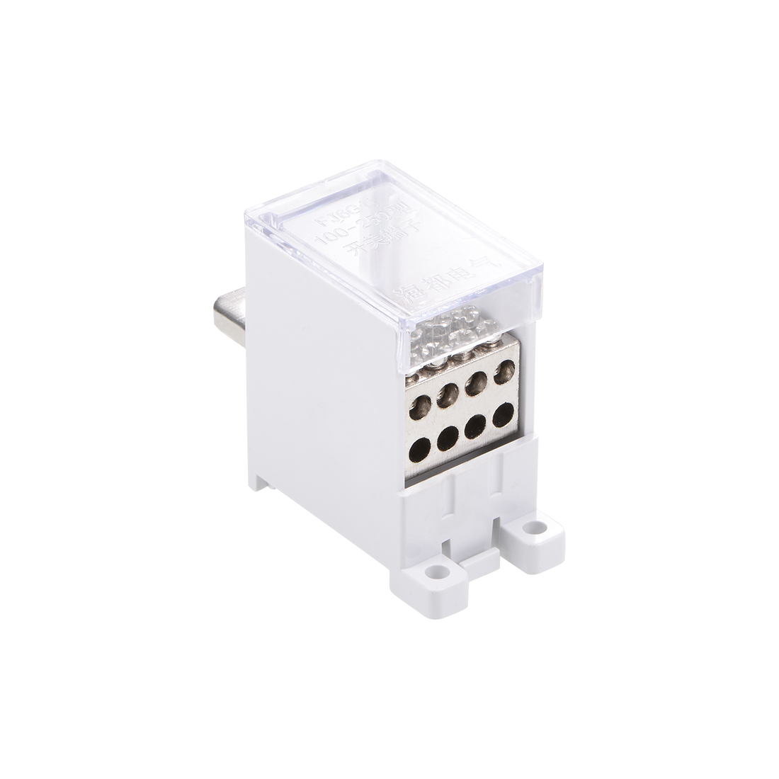 1 Inlet 8 Outlet DIN Rail Terminal Blocks 125A Max Input Distribution Block