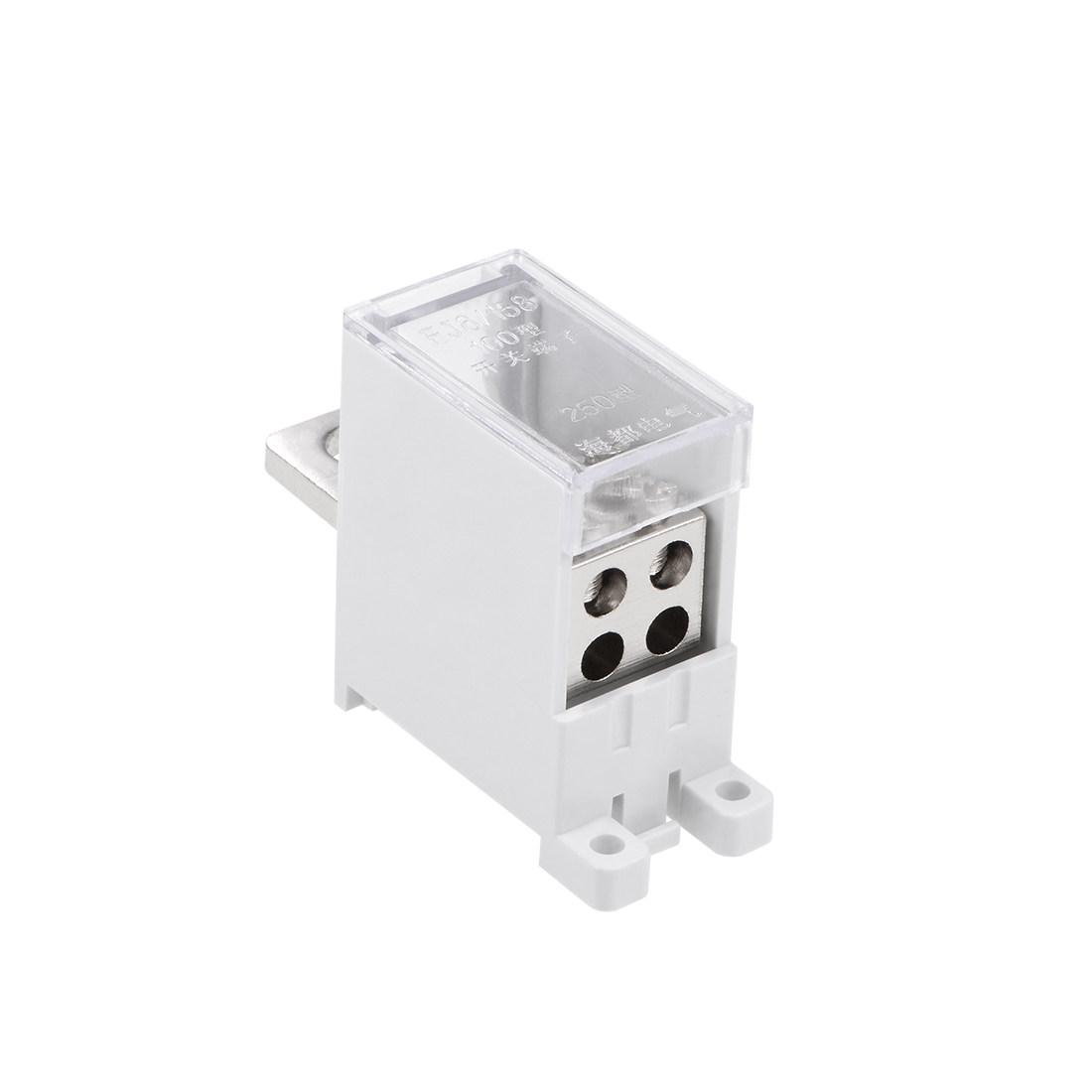1 In 4 Out DIN Rail Terminal Blocks 250A Max Input Distribution Block