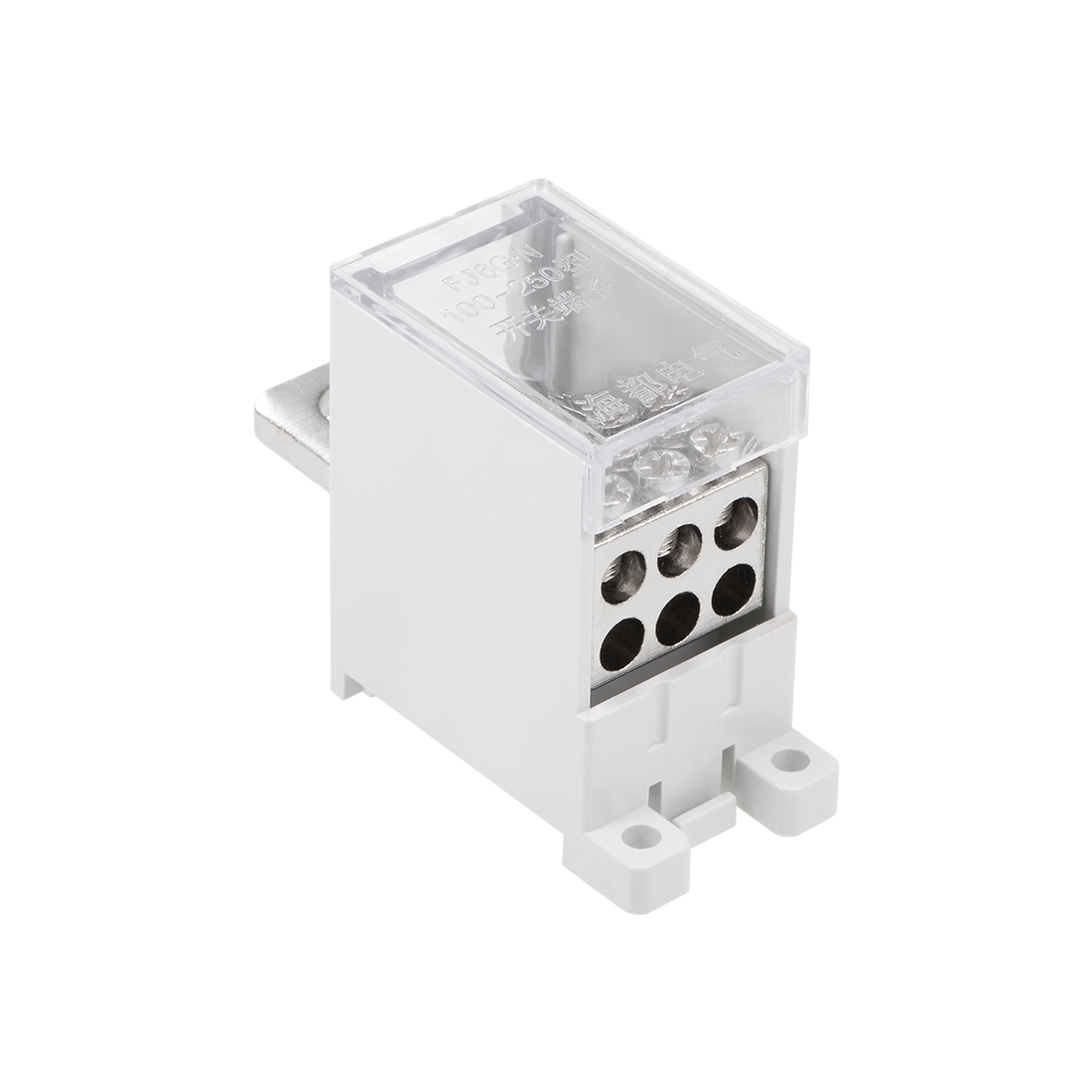 1 In 6 Out DIN Rail Terminal Blocks 250A Max Input Distribution Block