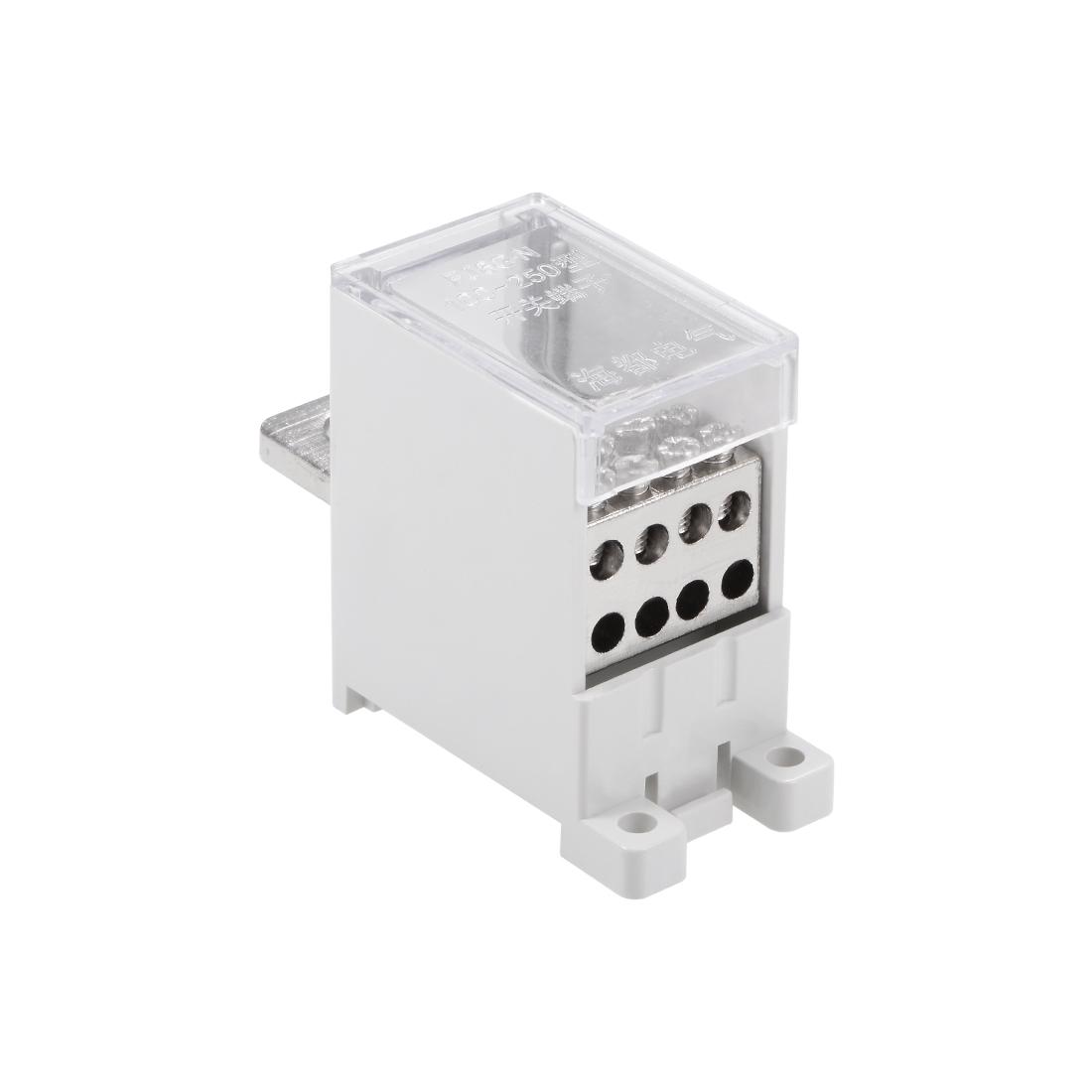 1 In 8 Out DIN Rail Terminal Blocks 250A Max Input Distribution Block