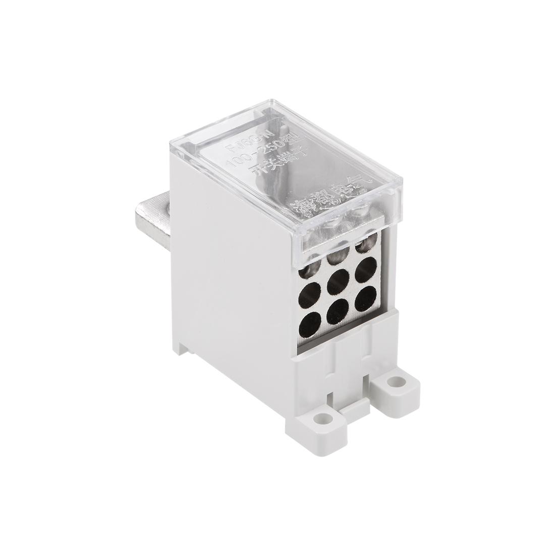 1 In 9 Out DIN Rail Terminal Blocks 250A Max Input Distribution Block