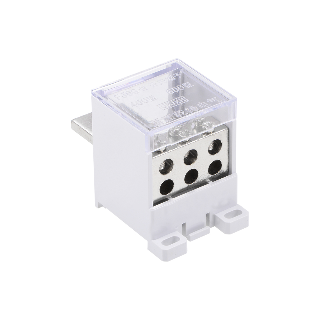 1 In 6 Out DIN Rail Terminal Blocks 400A Distribution Block for Circuit Breaker