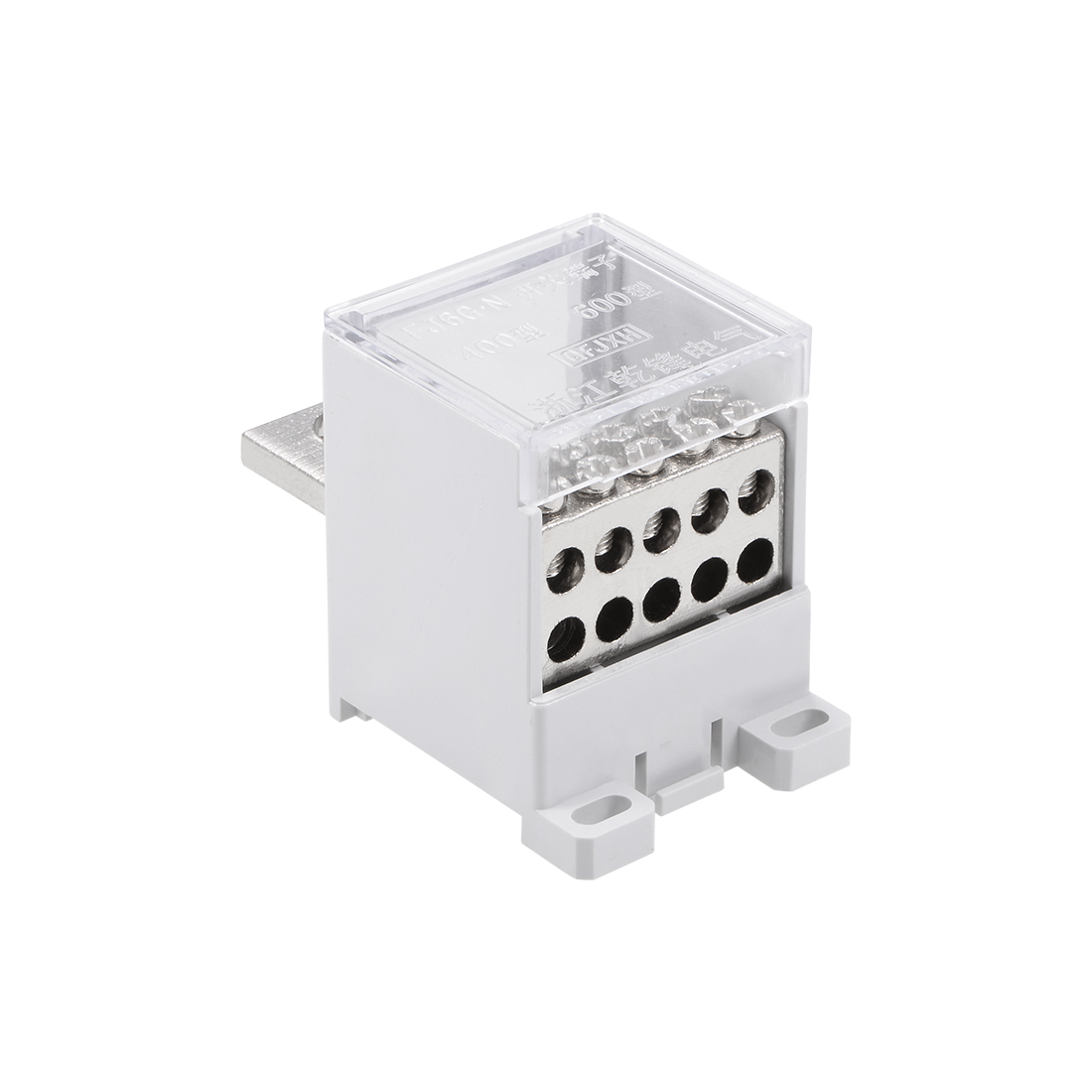 1 In 10 Out DIN Rail Terminal Blocks 400A Distribution Block for Circuit Breaker