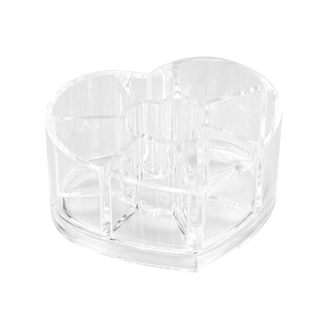 Clear Acrylic Makeup Organiser Storage Cosmetic Brush Holder with Compartment