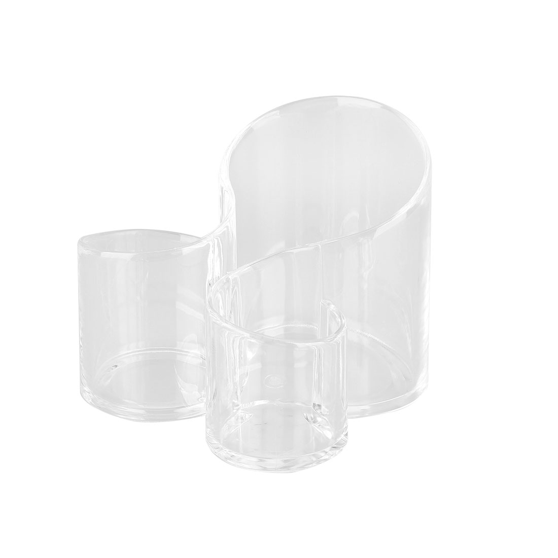 Clear Acrylic Makeup Organiser Box Cosmetic Brush Holder with Compartments