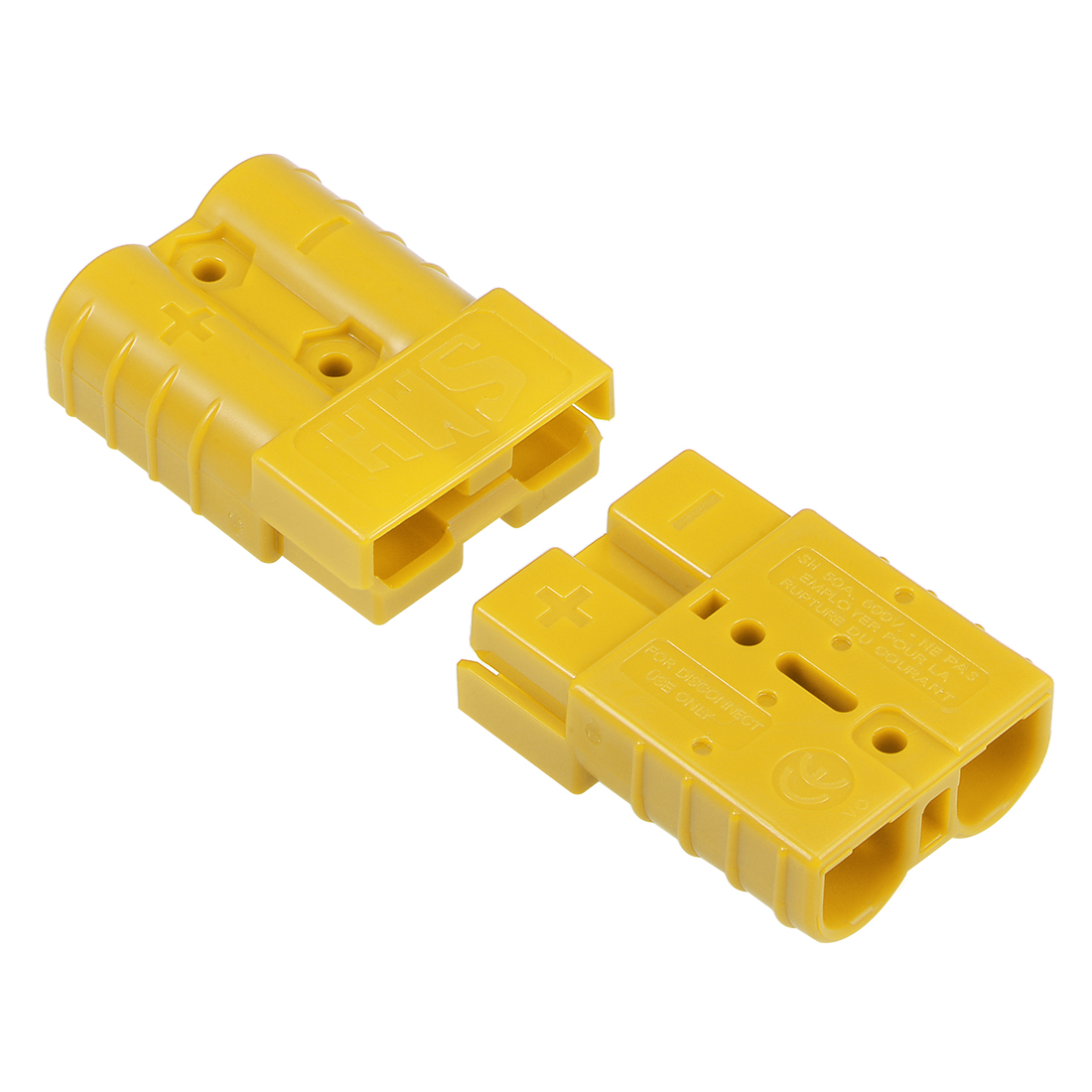 6 Gauge Battery Quick Connect Disconnect 50A Wire Connector, Yellow, 2pcs